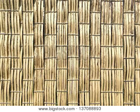 Brown Bamboo Weaving Background Pattern