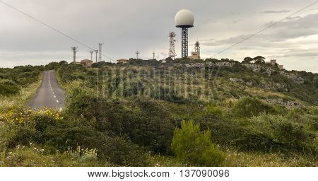 Transmitting Station Aeronautic Control Radar Aircraft On Puig De Randa, Mallorca, Balearic Islands,