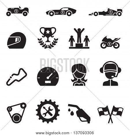 Car Racing icon set Vector illustration Graphic design
