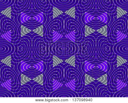 Regular colorful endless pattern with intertwine three-dimensional figures continuous illusory geometric background clear EPS10.