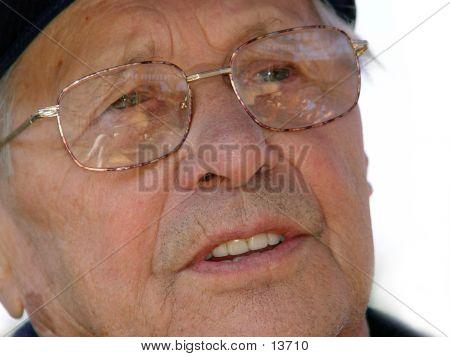 Closeup Of An Old Man