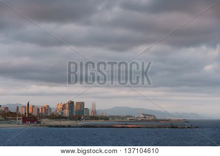 City Marine Bay Landscape Wide Angle Desktop Backgroung Photo