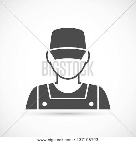 Mechanic avatar icon. Auto mechanic character illustration