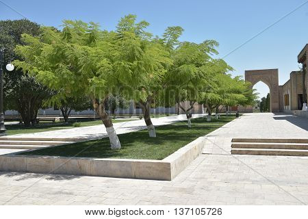 A picturesque Street in the ancient city of Bukhara.