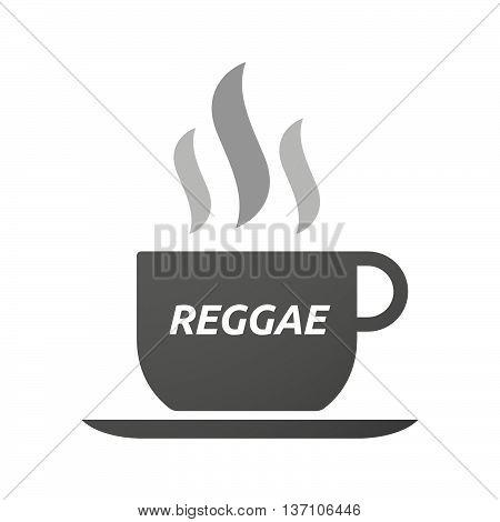 Coffee Mug Icon With    The Text Reggae