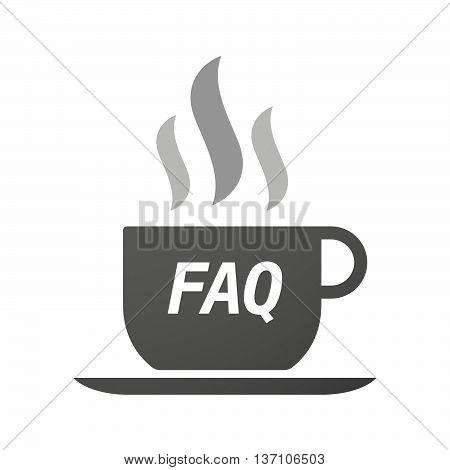 Coffee Mug Icon With    The Text Faq