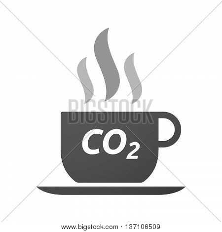 Coffee Mug Icon With    The Text Co2