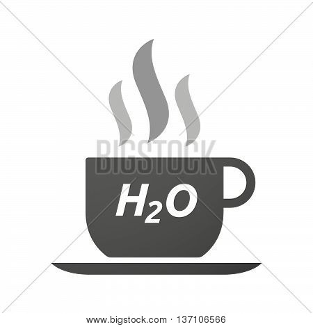 Coffee Mug Icon With    The Text H2O