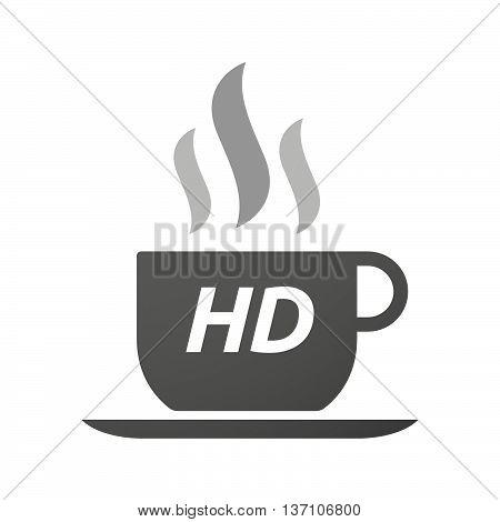 Coffee Mug Icon With    The Text Hd