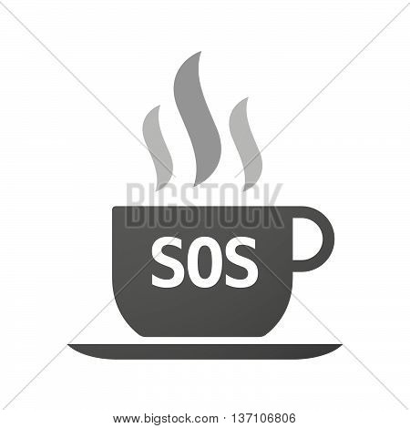Coffee Mug Icon With    The Text Sos
