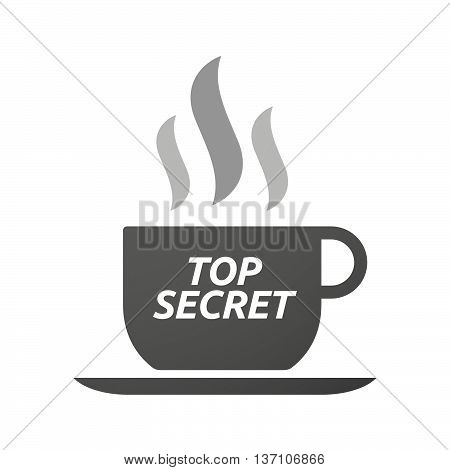Coffee Mug Icon With    The Text Top Secret