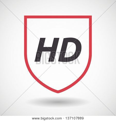 Isolated Line Art Shield Icon With    The Text Hd