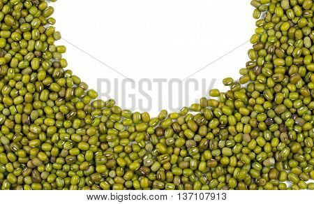 Mung Beans Isolated On White Background
