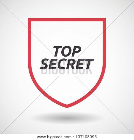 Isolated Line Art Shield Icon With    The Text Top Secret
