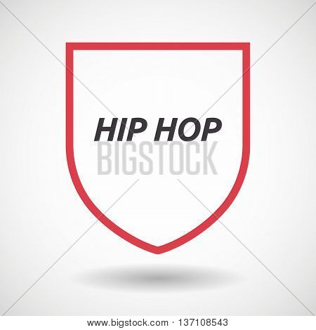 Isolated Line Art Shield Icon With    The Text Hip Hop