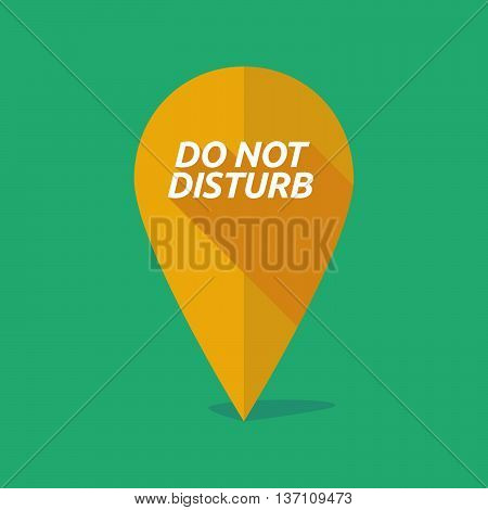 Long Shadow Map Mark Icon With    The Text Do Not Disturb