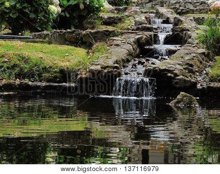 Waterfall, detail in the Valley, Merida. Venezuela