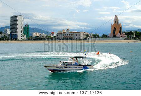 NHA TRANG, VIETNAM, February 22, 2016 speedboats, Vietnam marine police, patrol, Nha Trang Sea