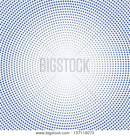 Geometric modern vector pattern. Fine ornament with blue stars