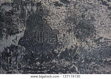 Grey grunge textured wall. Copy space. Design background