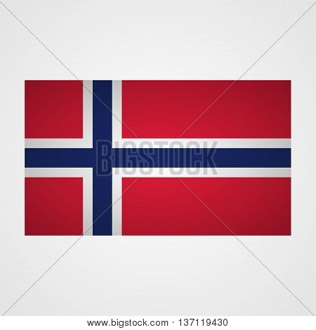 Norway flag on a gray background. Vector illustration