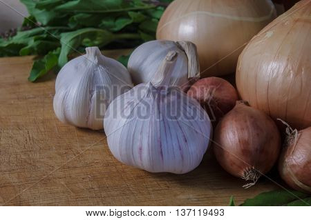the Onion garlic vegetable food healty natural