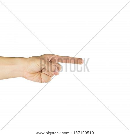 Finger and wound plast isolated on white background