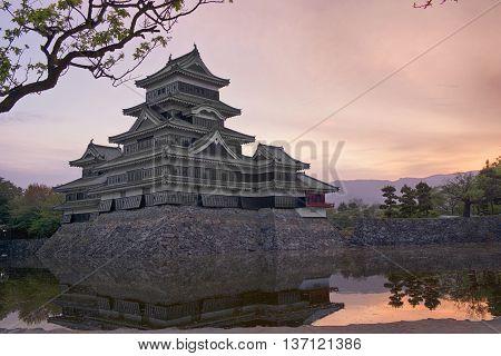 Matsumoto Castle, Japanese historic castle at Matsumoto city, Nagano, Japan