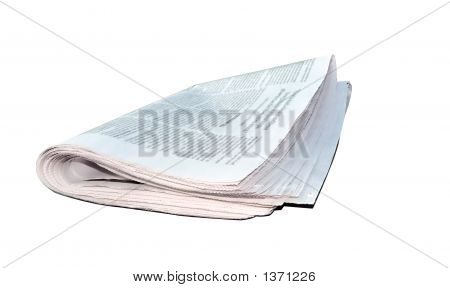 Newspaper Folded - Isolated Over White