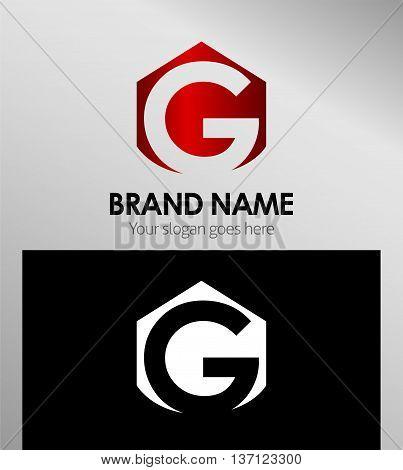 Abstract Letter g Icon Abstract Letter g Icon