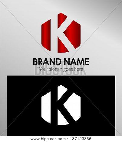 Abstract Letter k Icon Abstract Letter k Icon