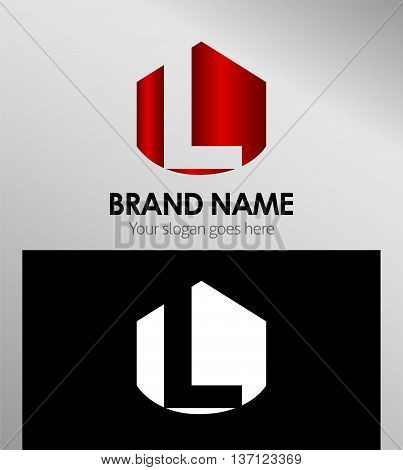Letter L Alphabetical Logo Design Concepts template design vector