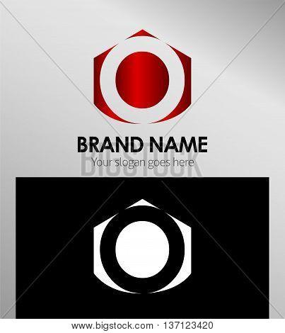 Letter O Alphabetical Logo Design Concepts template design vector