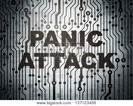 Healthcare concept: circuit board with  word Panic Attack, 3D rendering