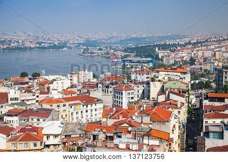 Istanbul, Turkey. Cityscape, Golden Horn River