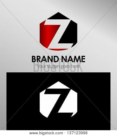 Letter z Alphabetical Logo Design Concepts template design vector