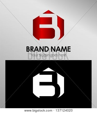 Vector sign spherical number 3 template design vector