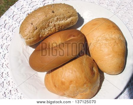 Assorted Bread-Rolls, Whole Wheat And White