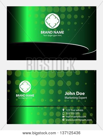 Green business card template template design vector
