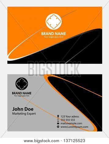 Abstract elegant wave business card template Business card
