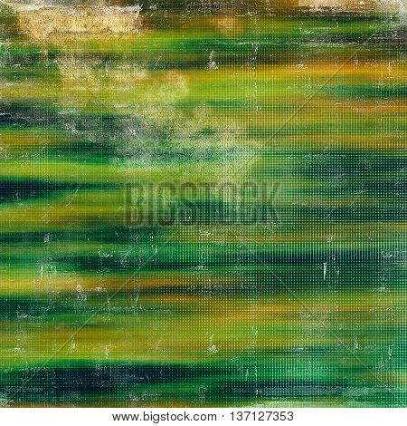 Vintage background in scrap-booking style, faded grunge texture with different color patterns: yellow (beige); brown; green; blue; cyan