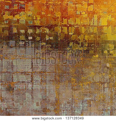 Abstract retro design composition. Stylish grunge background or texture with different color patterns: yellow (beige); brown; red (orange); gray