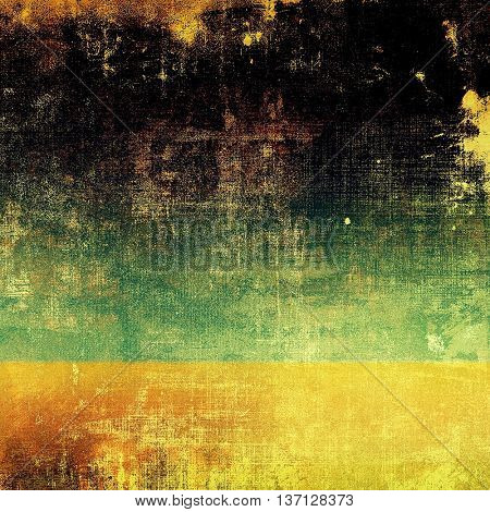 Vintage decorative background, antique grunge texture with different color patterns: yellow (beige); brown; green; red (orange); black