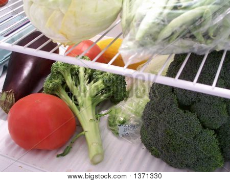 Vegetables In Refrigerator