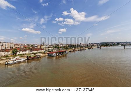 Panorama View On Belgrade Old Part Of Town
