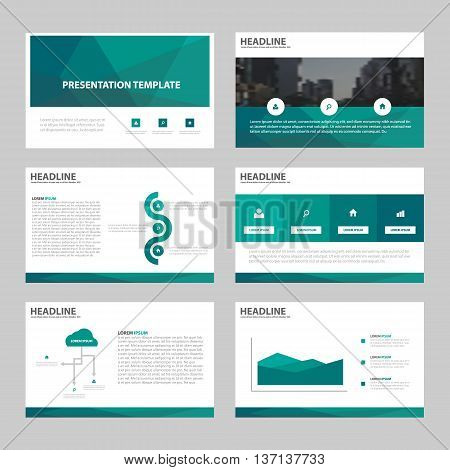 Green polygon Abstract presentation templates Infographic elements template flat design set for annual report brochure flyer leaflet marketing advertising banner template
