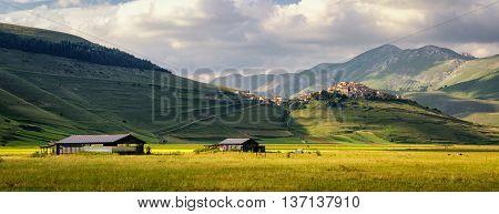 Castelluccio di Norcia (Umbria Italy) beautiful landscape