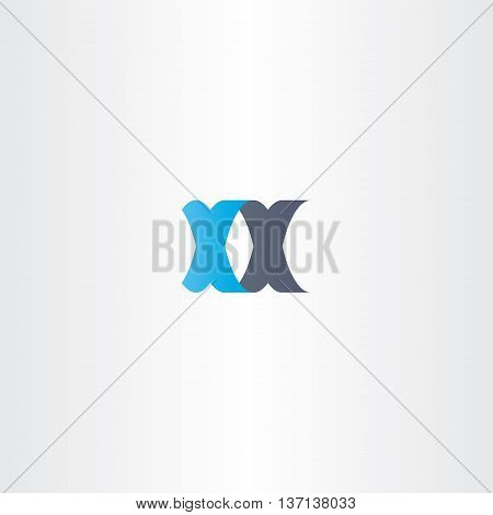 Double Letter X Logo Xx Vector Icon