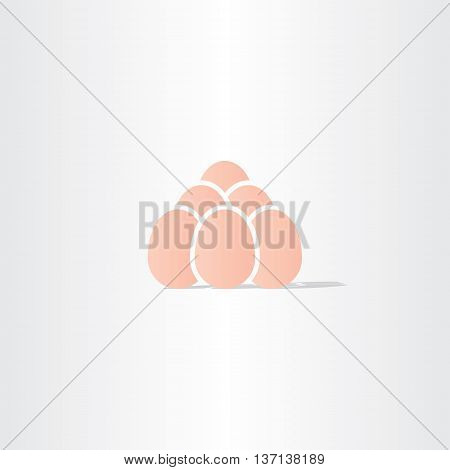 eggs vector icon logo symbol bussines illustration element
