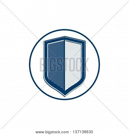 Stylish defense shield protection idea graphic design element.